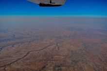 Air shoot Namibia desert.